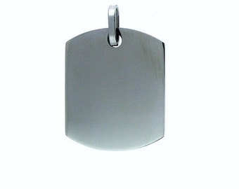 10 Stainless Steel Blank Dog Tags for Stamping and Engraving, Pack of blank dog tag pendants, Stamping Blanks, #PDJ0001