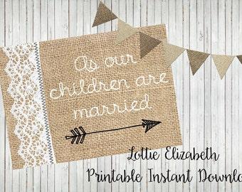 Printable Wedding Card, Co-Parents Card, Wedding Card, Printable Card, Card for Other Parents