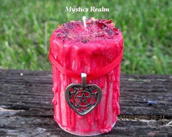 Love Candle ~ Attract Love Spell Candle ~ Wicca Spell Candle ~ Witch Drippy Candle ~ Love Spell Candle ~ Witchcraft Candle ~ Mystics Realm
