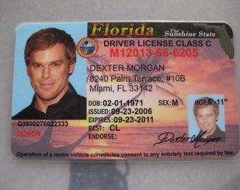 Dexter Morgan Driver License