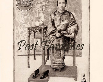 1903 Ad With Bound Feet (Reprint)