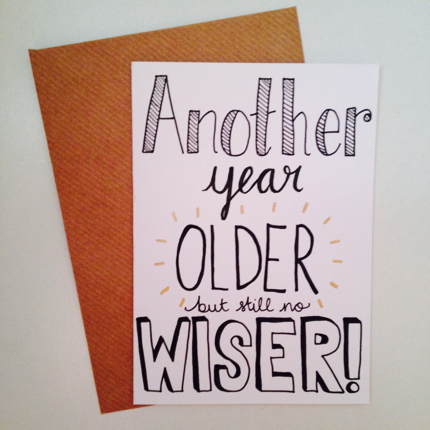 Birthday Quotes Another Year Older: Funny Hand Drawn Birthday Card Bundle Of 4 A6 By Lovemedoodles