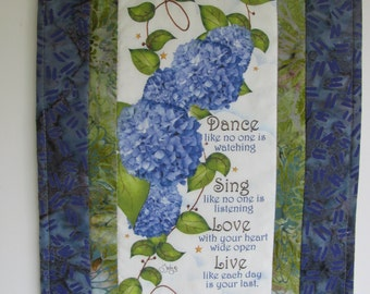Dance, Sing, Love, Live Wall Hanging