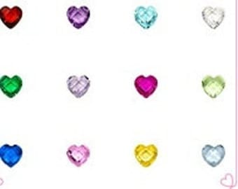 Floating Heart Crystals