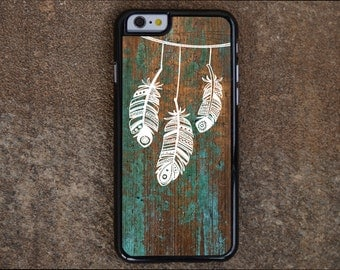 Feathers iPhone 7 Case, iPhone 7 Plus, iPhone 6 Case, iPhone 6 Plus, iPhone 5C Case, iPhone 5s Case Feathers,Wood TOUGH iPhone 6 Cover, D140