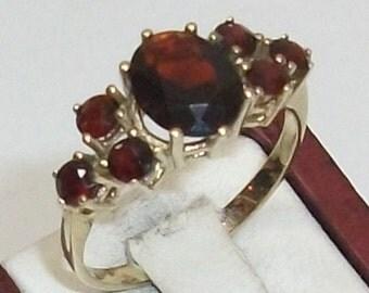 Old Garnet ring 333 Gold 7 Granatst. 18.4 GR123