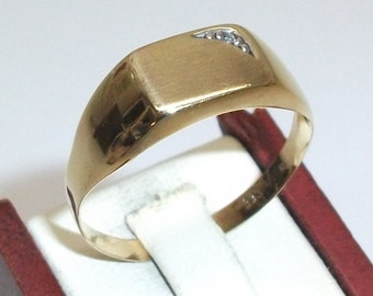 333 gold ring with cubic zirconia men's 21.2 GR112