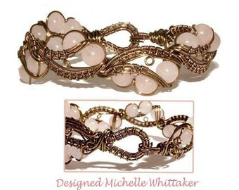 Cherry Blossom Double Wire Weave Bracelet Tutorial PDF