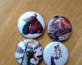 "Ratatuille Pin Buttons 1"" Set"
