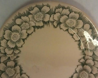 Western B. W. China Plate Los Angeles California