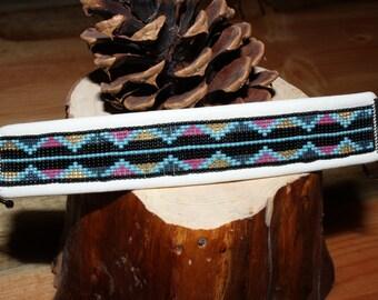 Custom Triangle Loom Beaded Bracelet