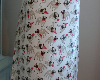 Adult's Cute PUGS Wipe Clean, Oilcloth Apron, Pug Dogs, Dog Apron, Wipe clean Apron, Pug Apron, Pug, Pugs, Dog, Dogs, Pug Apron, Baking