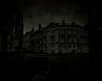 The Bank. A dark and eerie fine art photographic Giclée print of my vision of one of the counting houses of old Gypewic