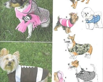 Dog Clothes Coat New Sewing Pattern Simplicity 1239 Size Small/Large