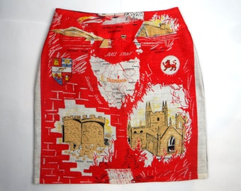 Women's map of Tasmania skirt. Size 12