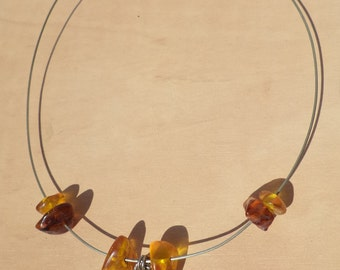 Natural old baltic amber necklace.