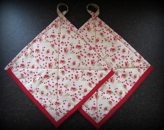 Pot Holders set of two quilted