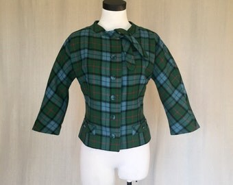 Vintage 1950s Ungar Plaid Jacket