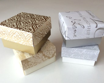 Gold or Silver Party Favor Box Set