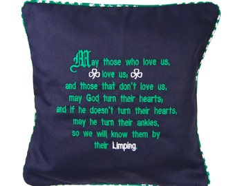 Embroidered Limping Pillow