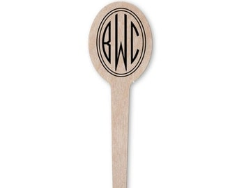 Circle Monogram Drink Stir Sticks