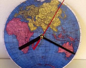 Small World Map Clock