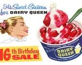 Vintage Dairy Queen Ad FRIDGE MAGNET
