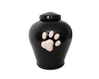 Black Paw Print Pet Urn 26 oz.