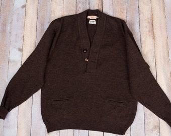 Vintage Brown cozy men's sweater