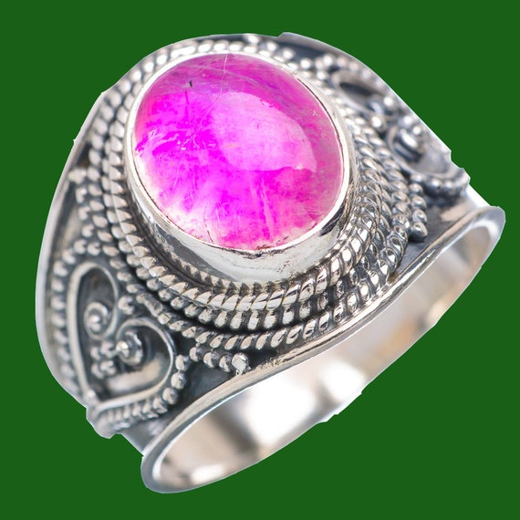 Pink Rainbow Moonstone ring925 Sterling silver pink by ...
