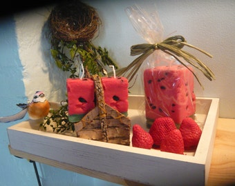 Watermelon Pillar and Votives