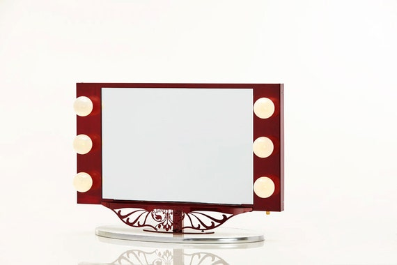 Starlet Lighted Vanity Mirror Reviews : Starlet Lighted Vanity Mirror Red by HollywoodVanityGirl on Etsy