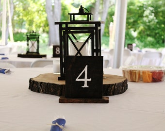 25 Wood table numbers- Wedding, Parties