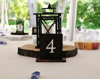 15 Wood table numbers- Wedding, Parties