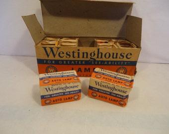 Vintage Westinghouse Super Headlight Lamp 32-32 C.P. 2330 6-8V prefocus base full box for 1930's 1940's Automobiles