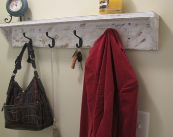 Farmhouse Shelf with Hooks