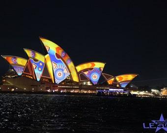 Sydney Opera House by Night/photo Sydney Opera House/ Australia/digital download/City of Sydney/light up Sydney/Australian photo/Opera