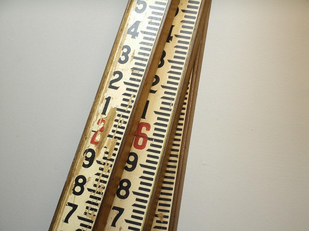 Vintage Surveying Rod Surveyor S Ruler Measuring Stick