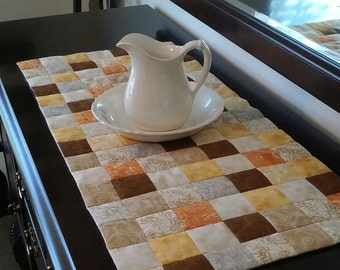 Autumn Crazy Patch Table Runner