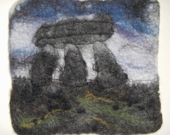 Lanyon Quoit, Cornwall, Felt Picture