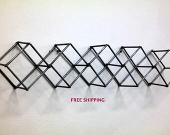 3d wall art // industrial sculpture // sculpture // wire // wall art // art // geometric wall art // modern art