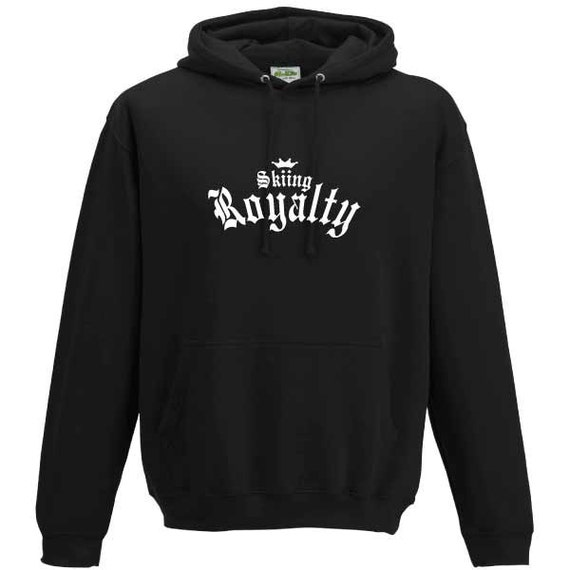Skiing Royalty Hooded Sweatshirt. Unisex sweatshirt gift present snow sports skiing snow board holiday winter King Queen Prince Princess