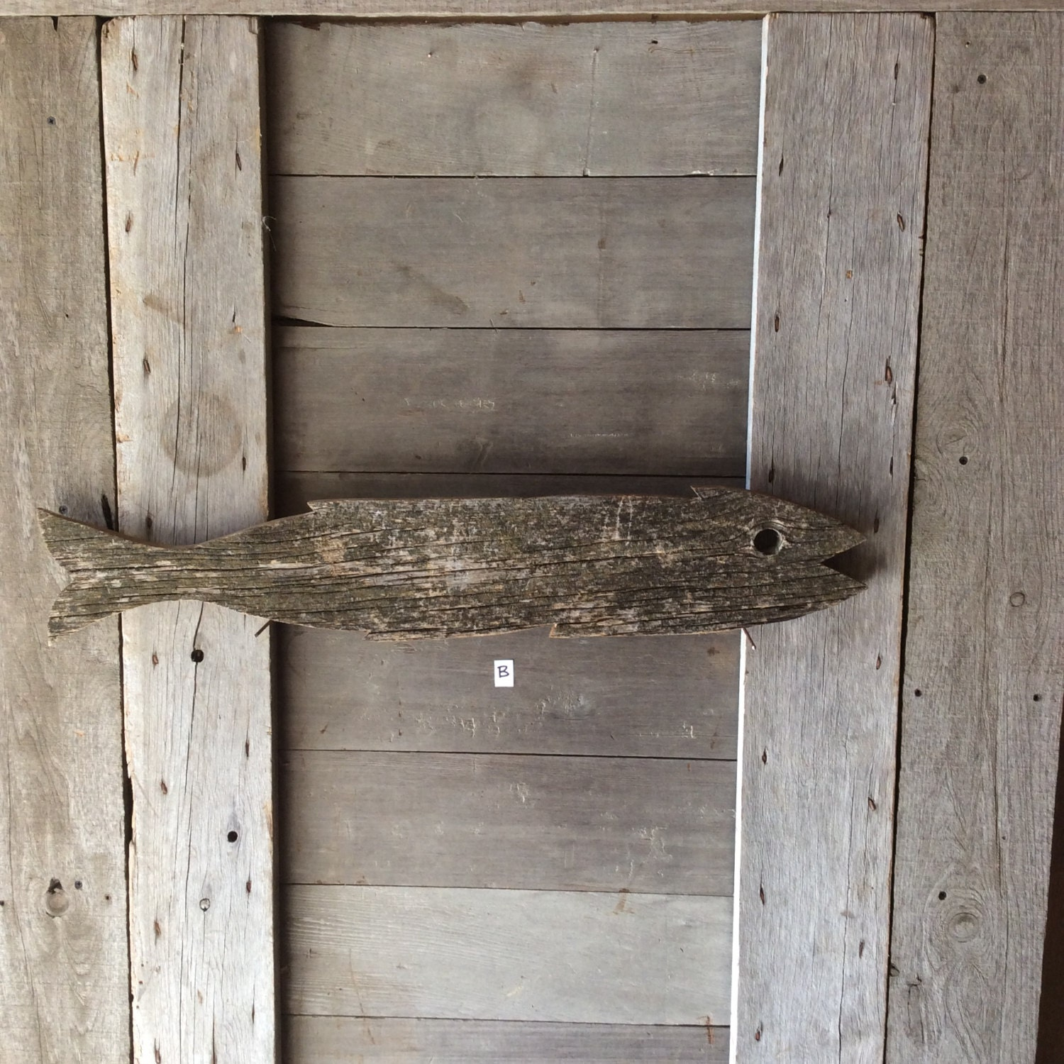 Barnwood Pieces Large Weathered Barn Wood Fish Great Accent Piece For Your