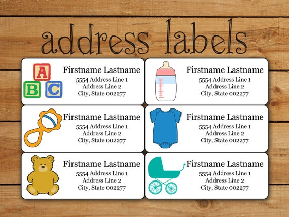 Baby Address Label Sticker Set Avery Template For Avery