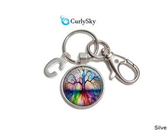 Rainbow Keychain Colorful Rainbow Keychain Rainbow Lake Keychain Colorful Tree Keychain colorful accessory Rainbow Colors Keychain Accessory