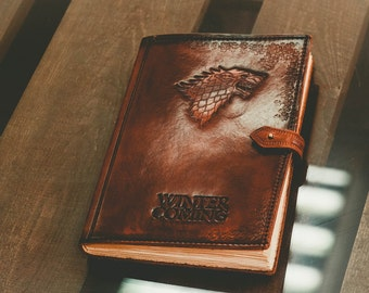 books movies music books blank books journals notebooks Notepad Game of Thrones notebook fantasy a5 leather journal lannister stark