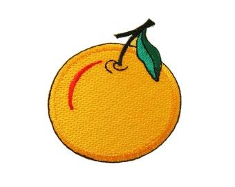 Orange Fruit DIY Applique Iron on Patch