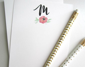 Custom Hand-Lettered Stationary, 12 Personalized Note Cards