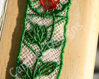 Lace Bookmark - The Rose