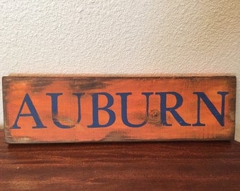 Auburn football decor